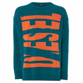Diesel Broken Logo Knitted Jumper