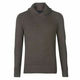 Howick Callington Cotton Shawl Neck Jumper with Neps