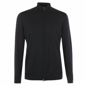 Boss Balonso Zip Through Merino Funnelneck Jumper