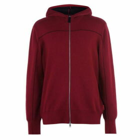 Armani Exchange Knitted Zip Through Hooded Jumper