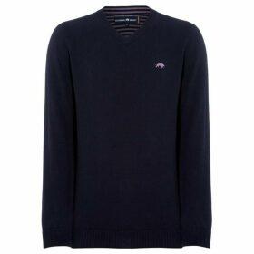 Raging Bull Raging Mens V-Neck Cotton Cashmere Sweater