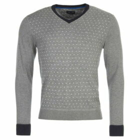 Eden Park Polkadot Cotton V-Neck Jumper