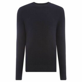 Howick Ezra Textured Cotton Crew Neck Jumper