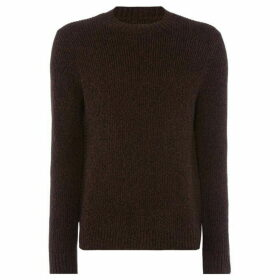 Label Lab Braun twisted crew neck jumper