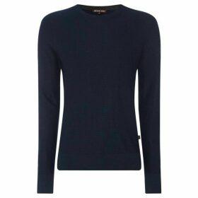 Michael Kors Textured wool mix crew neck jumper