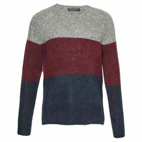 French Connection Block Stripe Mohair Mix Jumper