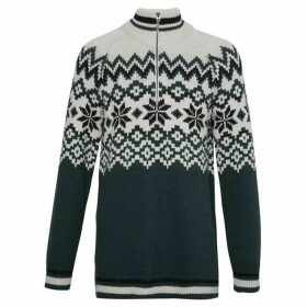 French Connection Ski Fair Isle Half Zip Jumper