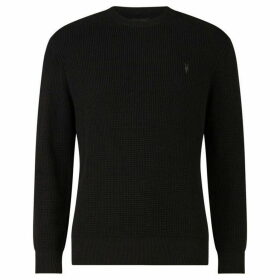 All Saints Mert Fine Waffle Knit Jumper