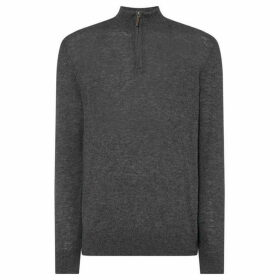 Howick Arlington Lambswool Funnel Neck Jumper