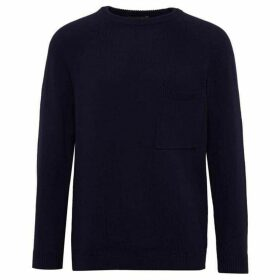 French Connection Overdyed Cotton Crew Neck Knit Jumper