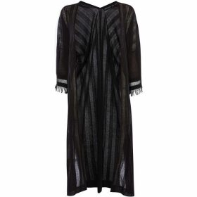 Karen Millen Striped Longline Cardigan