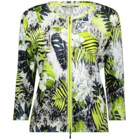 Betty Barclay Fine Ribbed Floral Print Cardigan