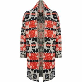 Maison Scotch Floral oversized cardigan