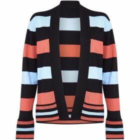 Yumi Colour Block Striped Cardigan