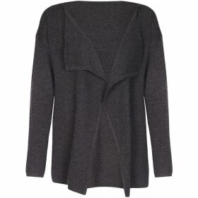 Yumi Shoulder Zip Waterfall Cardigan