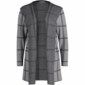 Betty Barclay Check Cardigan With Hood