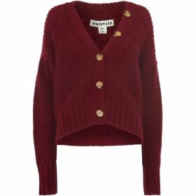 Whistles Mohair Cropped Cardigan