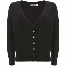 Mint Velvet Black Button Front Cardigan
