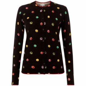 Escada Long sleeve rainbow dot cardigan