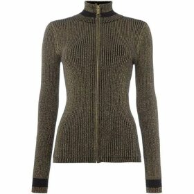 Biba Rib Knit Zip Up Cardigan