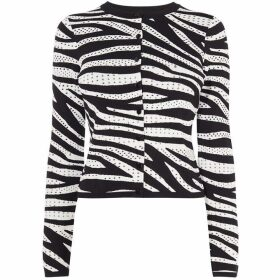 Karen Millen Zebra Knit Cardigan