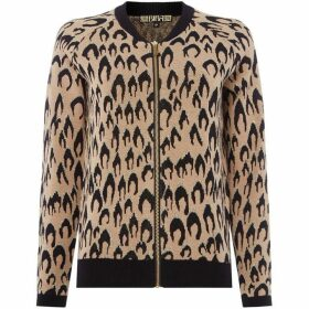 Biba Jacquard Zip Up Cardigan