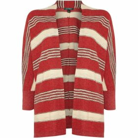 Lauren Striped open front cardigan