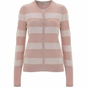 Nougat Freesia Striped Cardigan