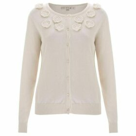 Nougat Orchid Embroidered Cardigan