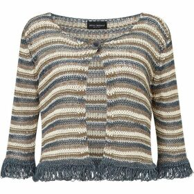 James Lakeland Lurex Stripy Cardigan