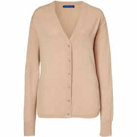 Winser London Brigitte Curved Hem Cardigan