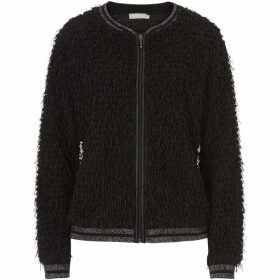 Betty Barclay Shaggy textured cardigan with zip