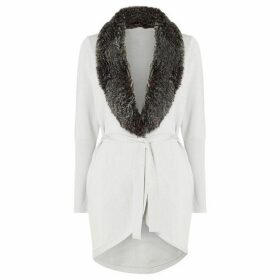 Damsel in a Dress Faux Fur Collar Cardigan
