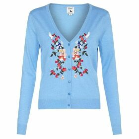 Yumi Floral Embroidered Cardigan