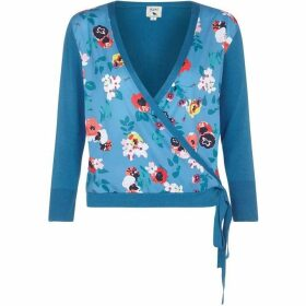 Yumi Floral Woven Wrap Cardigan