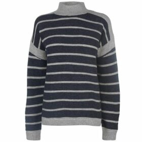 Maison De Nimes Maison Ribbed Stripe Roll Neck Jumper Ladies