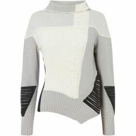Crea Concept Ruffle front stripe jumper