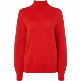 Hugo Sonaly cable sleeve jumper