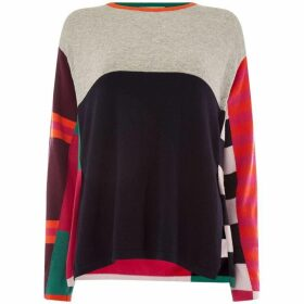 Oui Colour block stripe jumper