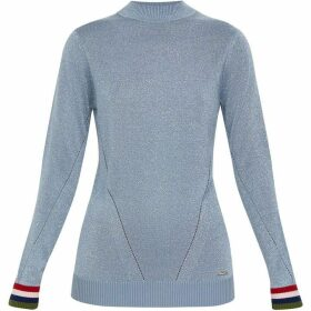 Ted Baker Alexxaa Striped Rib Lurex Jumper