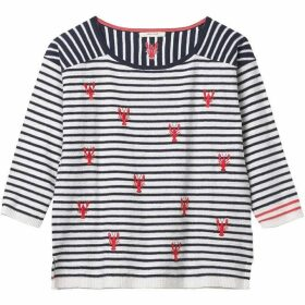 White Stuff Lido Lobster Stripe Jumper