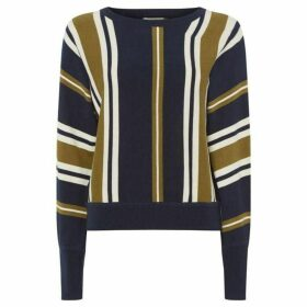 People Tree Shola Stripe Crew Neck Jumper
