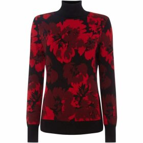 DKNY Turtle neck printed pullover