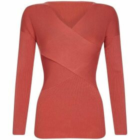 Yumi Ribbed Wrap Around Jumper