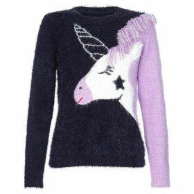 Yumi Unicorn Intarsia Jumper
