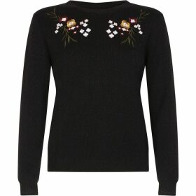 Yumi Mirrored Flower Embroidered Jumper