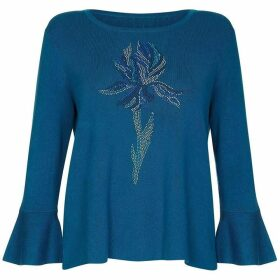 Yumi Knit And Woven Iris Jumper