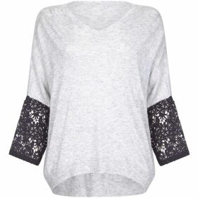 Mela Lace Sleeve Jumper