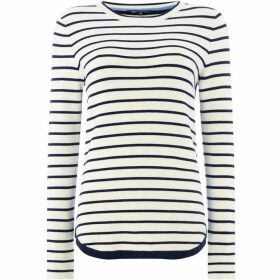 Crew Clothing Company Stripe Mix Jumper