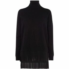 Karen Millen High-Neck Pleated Jumper